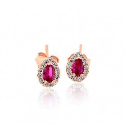 Σκουλαρίκια Ροζέτα Κ18 EAR-R-000544PWP