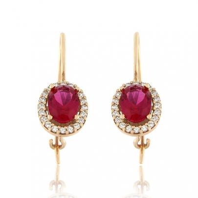 Σκουλαρίκια Ροζέτα Κ14 EAR-RI-000712PPW