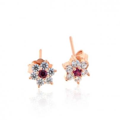 Σκουλαρίκια Ροζέτα Κ14 EAR-S-000087AWP