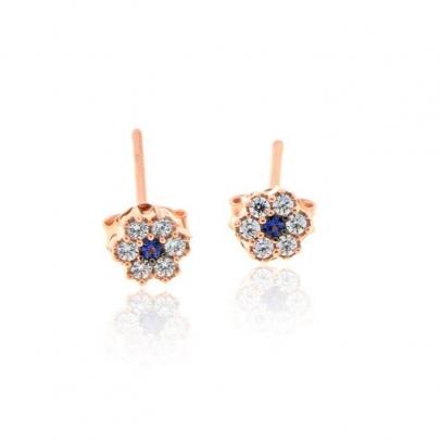 Σκουλαρίκια Ροζέτα Κ14 EAR-S-000239