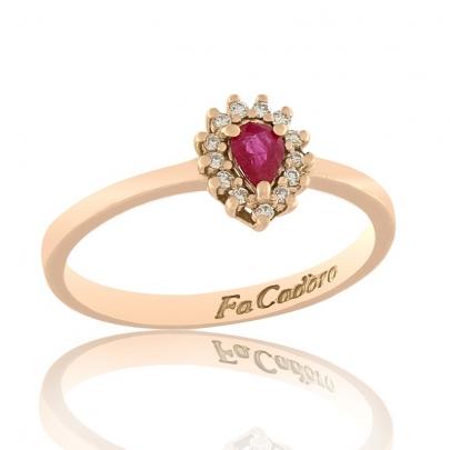 Δαχτυλίδι Ροζέτα Κ18 RI-2401P